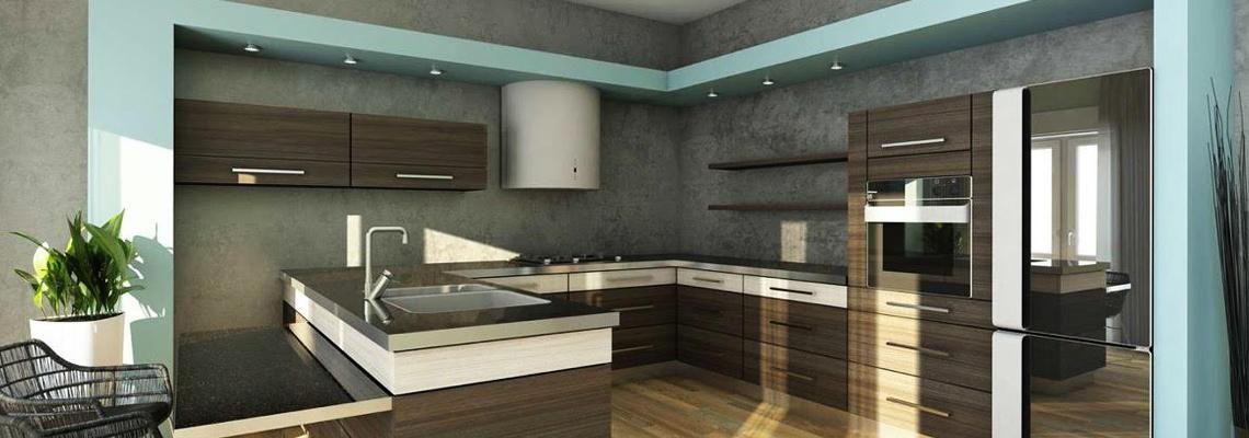 shiny black laminate countertops